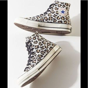 Converse Chuck 70 Leopard Print High Top Sneakers